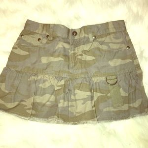🎈4/$25🎈 DKNY CAMO MICRO MINI SKIRT SZ: 1